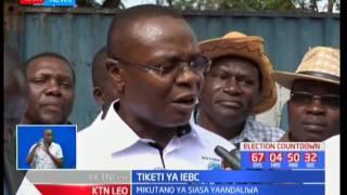 Wanasiasa waendelea kufikisha stakabadhi yao kwa tume huru ya IEBC
