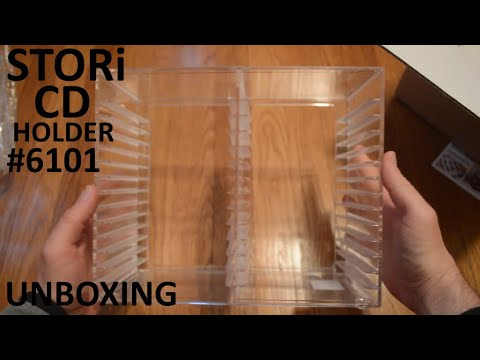 Unboxing STORi Clear Acrylic Stackable CD Holder #6101