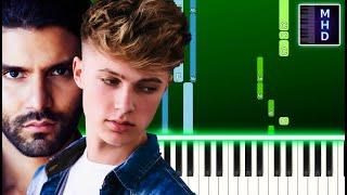 R3HAB & HRVY - Be Okay (Piano Tutorial Easy)