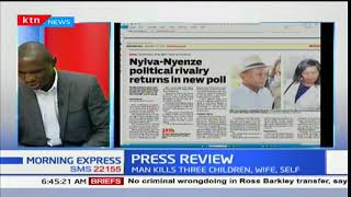 Nyiva-Nyenze political rivalry returns in new polls