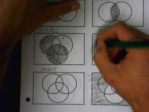 Set Operations Venn Diagrams Part 2 127 120b Youtubefunvideo