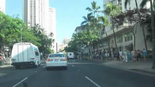 preview picture of video 'Kalakaua Avenue Waikiki Honolulu Oahu Hawaii'