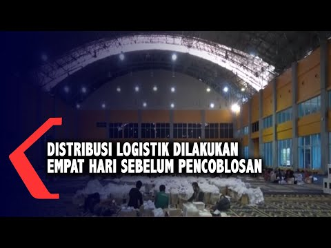 distribusi logistik dilakukan empat hari sebelum pencoblosan