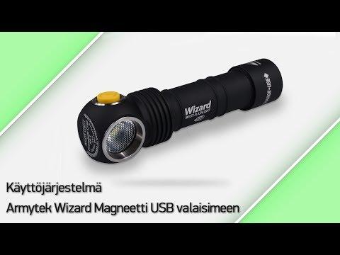 Käyttöjärjestelmä Armytek Wizard Magneetti USB valaisimeen