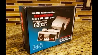 Nintendo 620 games in 1 Retro Entertainment System, NES China Unboxing and Review Gearbest.com