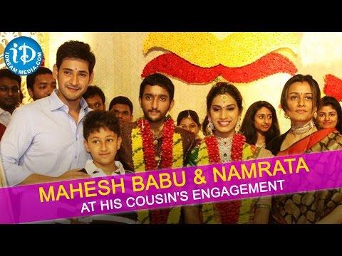 Mahesh Babu and Namrata Shirodkar at His Cousin's Engagement