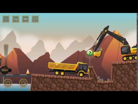 Construction city 2 game driving special equipment by truck, excavator, dump truck, fire engine
