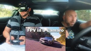 FPV in a Camaro - Chasing Myself with the DJI FPV System - Ricker Life FPV