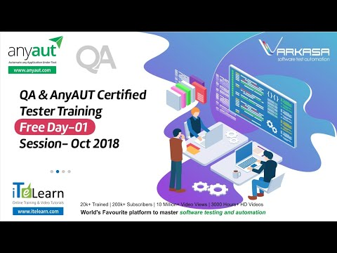 QA & AnyAUT Certified Tester Training Free Day-01 Session - Oct ...
