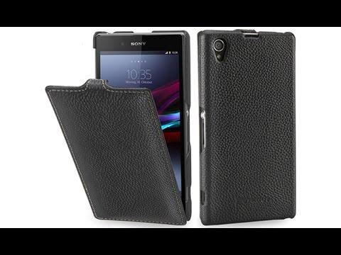 Handyhülle für Sony Xperia Z1 aus echtem Leder von StilGut