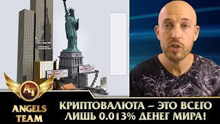 Криптовалюта - это всего лишь 0.013% денег мира!