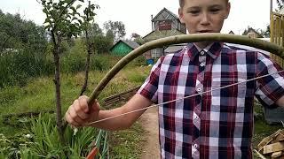 Как делать плетенку из лука