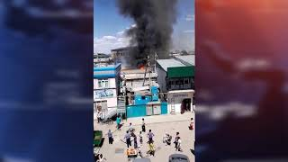 Пожар в центе Туркестана
