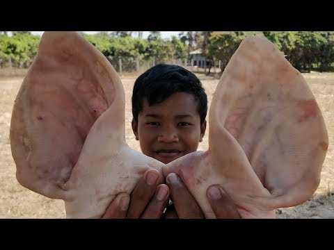 Pig Ear Recipe / Cooking Pig Ear With Tomato / Fried Pig Ear