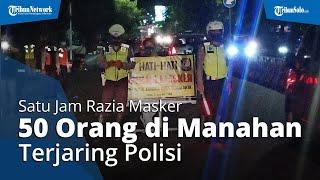 Satu Jam Razia Masker di Manahan, Polisi Dapati 50 Orang Melanggar, Dihukum Nyanyikan Lagu Nasional