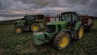 Epic mudy autumn with John Deere tractors - 8345R, 8270R, 6155R, 6620, 6420...