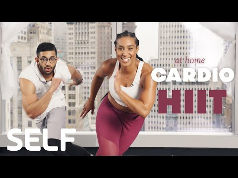 30 Minute HIIT Cardio Workout + Abs At Home - With Warmup | SELF