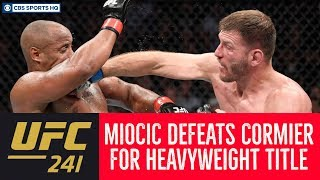 Miocic gets REVENGE, TKOs Cormier for HEAVYWEIGHT TITLE    UFC 241   CBS Sports HQ