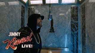 "EXCLUSIVE   Eminem Performs ""Venom"" From The Empire State Building! Presented By Google Pixel 3"