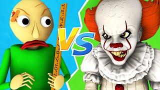 Балди vs Пеннивайз - Фильм (Оно 2 | Baldi's Basics Хоррор 3D Анимация)