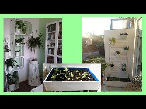 Hochbeet selber bauen Balkonbeet Blumenregal