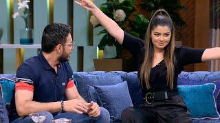 """لعبة """"هتمثلها"""" كلها ضحك بين أحمد زاهر وبنته ليلى زاهر مع منى الشاذلي"""