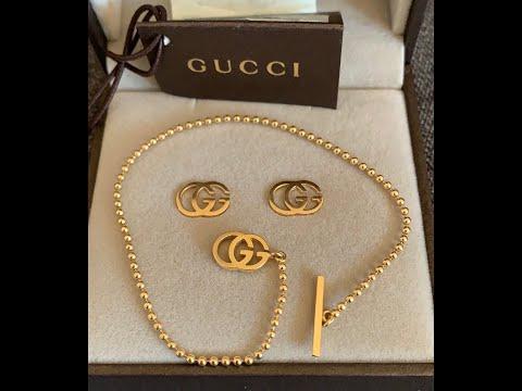 GUCCI 18K earrings & bracelet Reveal
