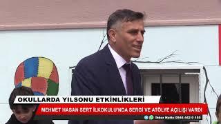Mehmet Hasan Sert İlkokulu'nda sergi ve atölye açılışı vardı