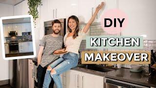 DIY SMALL KITCHEN Transformation! Ikea and Amazon Home Decor Ideas