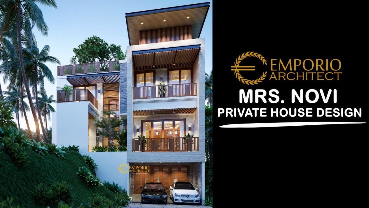 Video 3D Desain Rumah Modern 3 Lantai Ibu Novi di Jakarta Timur