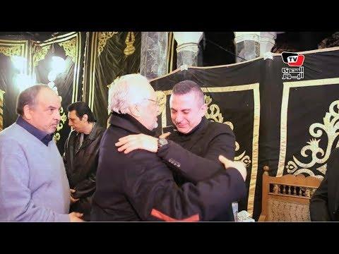 أحمد سعيد عبد الغنى ينهار فى عزاء والده