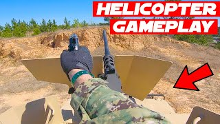Airsoft LMG Air Support + Blank Fire 50 Cal Gameplay!