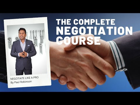 NEGOTIATE LIKE A PRO | The complete negotiation course by Paul ...