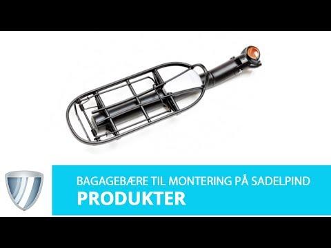 Bagagebærer til sadelpind med smæk video