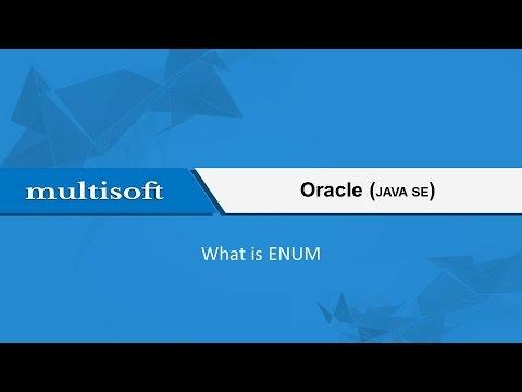 Learning Enum - the Oracle Java SE Online Training Video Tutorial