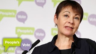 Caroline Lucas warns against No Deal Brexit