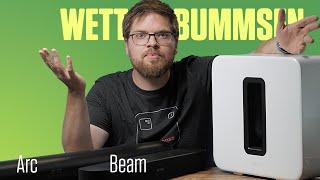 Sonos Sub 3. Generation mit Sonos Beam und Arc ausprobiert
