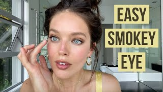 Natural + Easy Brown Smokey Eye Makeup Tutorial | Emily DiDonato