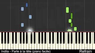 Indila   Parle à Ta Tête (piano Facile)