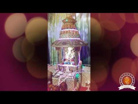 Kiran Gulumbe Home Ganpati Decoration Video