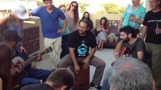 L. C. Ulmer Playing the Blues on the Porch