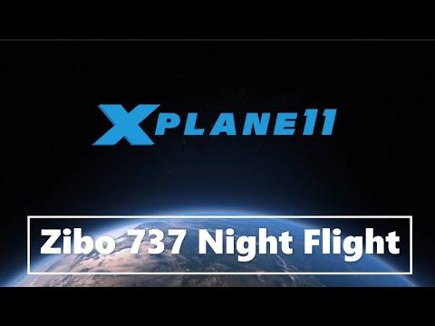 X Plane 11 737 800 Zibo KJFK Night Landing - смотреть онлайн на Hah Life