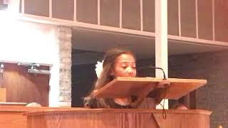 Tatum (11 yr. Old) Singing O Holy Night (full version) Dec. 2017