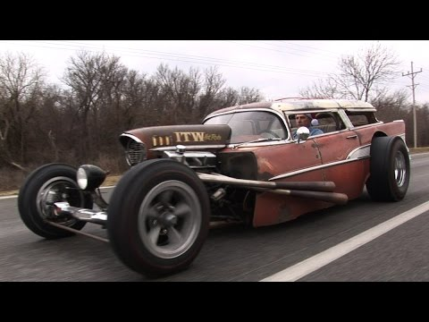 INSANE 57 Chevy Wagon RAT ROD