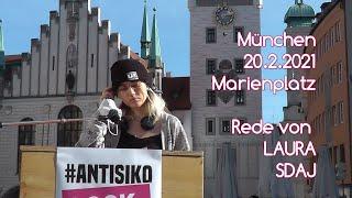 #Antisiko 20.2.2021 Rede von Laura SDAJ Marienplatz München