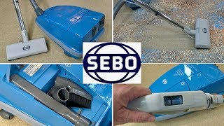 Sebo Airbelt C3 Power Canister Vacuum Cleaner Unboxing & Demonstration