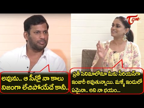 Hero Vishal revealed about the mind Blowing Scene | Chakra Exclusive Interview | TeluguOne Cinema