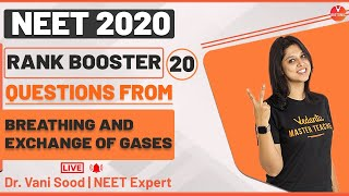 Rank Booster Questions From Breathing and Exchange of Gases For NEET 2020   Vedantu