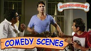 Akshay Kumar Scaring Prakash Raj & Sonu Sood- Comedy Scenes | Entertainment | Hindi Film