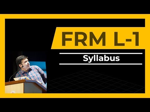 FRM Part 1- 1st Class | How to Begin Preparation | Syllabus - YouTube